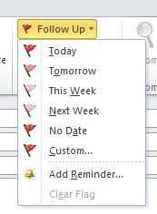 Outlook Follow up
